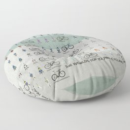 Pro Cycling Teams Floor Pillow