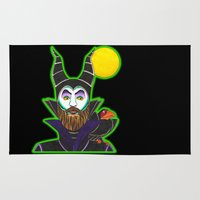 maleficent Area & Throw Rugs featuring MALEficent by Travis Butchart