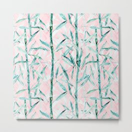 Bamboo on on Blush Background .  #decor #art # society6 Metal Print