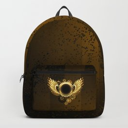 Round Banner with Steampunk Wings Backpack