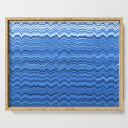 Blue waves pattern Serving Tray