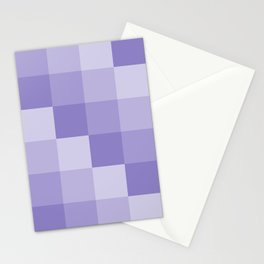 Four Shades of Lavender Square Stationery Cards