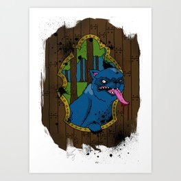 wolf at your door Art Print