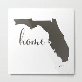 Florida is Home Metal Print