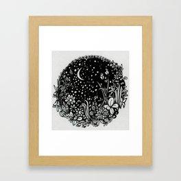 Moonlit Garden Framed Art Print