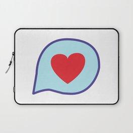 Valentine heart text balloon Laptop Sleeve