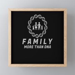 Family DNA Saying Love Framed Mini Art Print