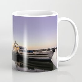 Mystic Ship By the Pier In The Sunset Coffee Mug