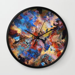 Dark Paint Splash Wall Clock