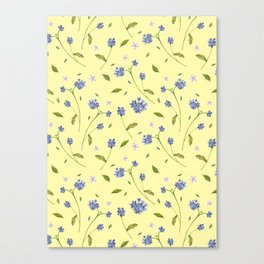 Botanical Print (Hound's Tongue)  Canvas Print