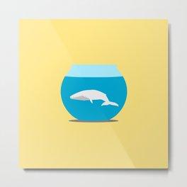 Small whale Metal Print