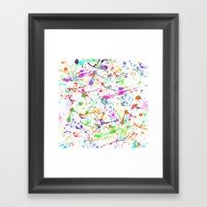 Paint Splatter 2 - White Framed Art Print
