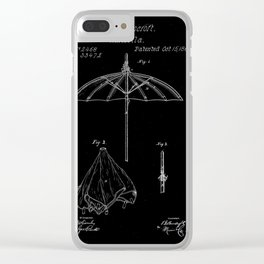 patent umbrela Clear iPhone Case