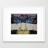 superhero Framed Art Prints featuring Superhero by Michael Creese