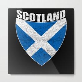 Scotland Distressed Metal Print