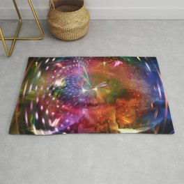 """""""Down The Rabbit Hole: Remixed 2"""" Rug"""