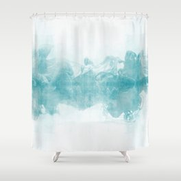 Ink Spot No. 1 | Turquoise Shower Curtain