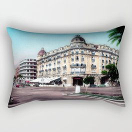 Vintage Hotel Ruhl in Nice during the 1950's Rectangular Pillow