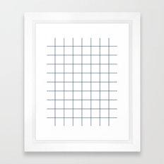 Chek - check grid simple minimal black and white modern urban brooklyn nashville hipster gifts Framed Art Print