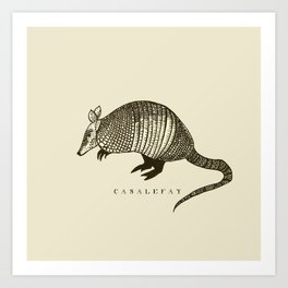 Armadillo power Art Print