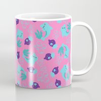 dolphins Mugs featuring dolphins by lindseyclare