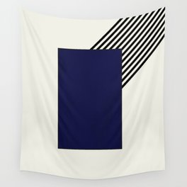 Blue with stripes    Wall Tapestry
