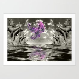 view from the Temple Art Print