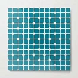 Modern Cubes - Teal Metal Print