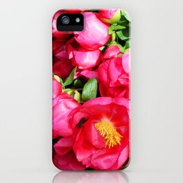 Pink flowers iPhone Case