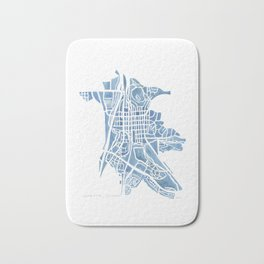 Castle Rock Colorado watercolor map Bath Mat