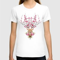 spring T-shirts featuring Spring Deer by Robert Farkas