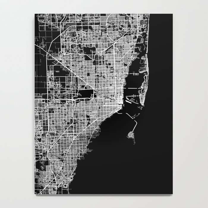 Miami map Notebook