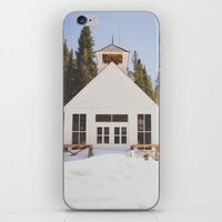 elmo iPhone & iPod Skins featuring St. Elmo Town Hall by Carrie Baker