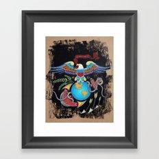 Eagle Globe & Anchor Framed Art Print