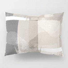 "Grey and Beige Minimalist Geometric Abstract ""Building Blocks"" Pillow Sham"