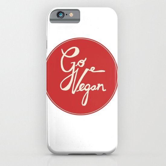 Go vegan iPhone & iPod Case