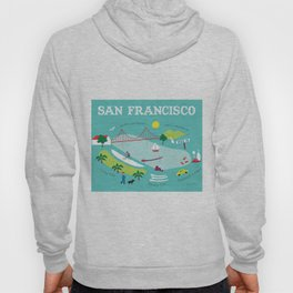 San Francisco, California - Collage Illustration by Loose Petals Hoody