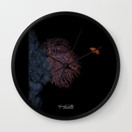 Coral With An Orange Twist Wall Clock