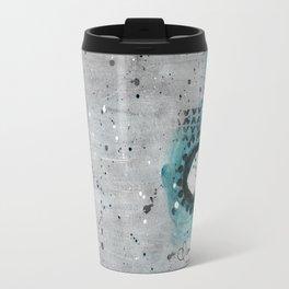Charcoal Circles Right Travel Mug