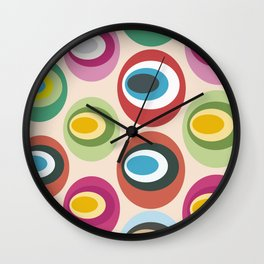 Retro geometric: Born to express love Wall Clock