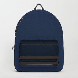 Dark blue combo pattern Backpack
