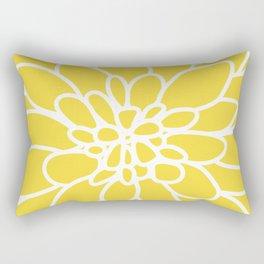 Modern Yellow Dahlia Flower Rectangular Pillow