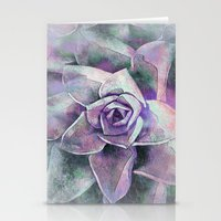 succulents Stationery Cards featuring Succulents by Klara Acel