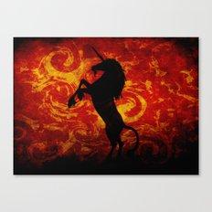 Dark Unicorn Canvas Print
