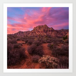 Sunrise at Red Rock Art Print