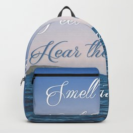 Hear the Ocean, Be at Ease Backpack
