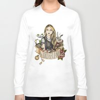 alice wonderland Long Sleeve T-shirts featuring Wonderland by Juu Monteiro