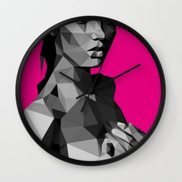 Black Magenta Wall Clock