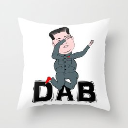Kim Jong Un Dabbing Throw Pillow