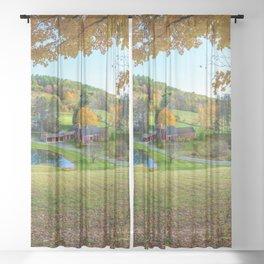 Sleepy Hollow Farm Woodstock  Vermont Sheer Curtain